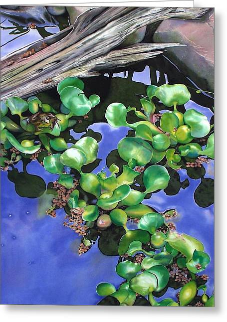 Floating Lilacs Greeting Card by Denny Bond