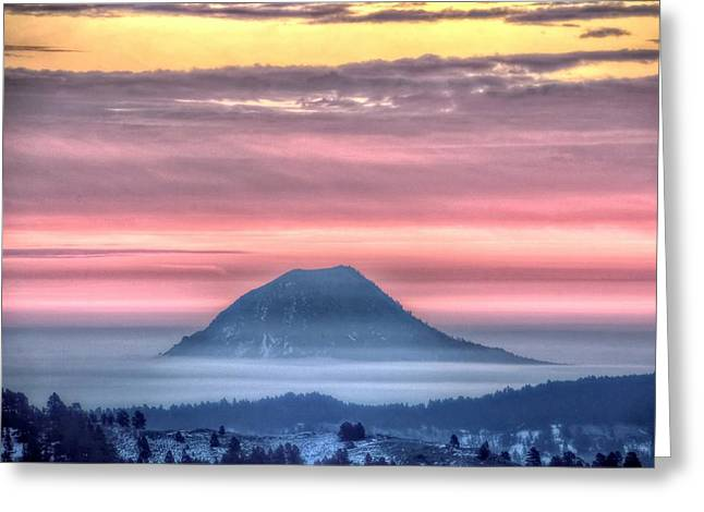Floating Mountain Greeting Card