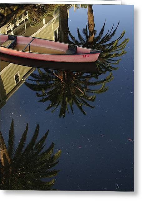 Floating On Palms Greeting Card