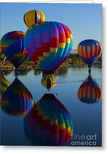 Floating Reflections Greeting Card