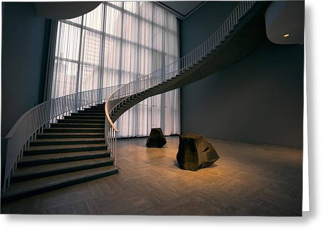 Floating Spiral Staircase Of Chicago Art Institute Greeting Card by Daniel Hagerman