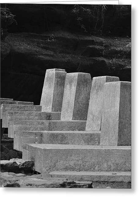 Floating Stone Staircase Greeting Card by Peter  McIntosh