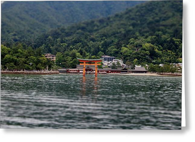 Floating Torii Gate - Distance Greeting Card