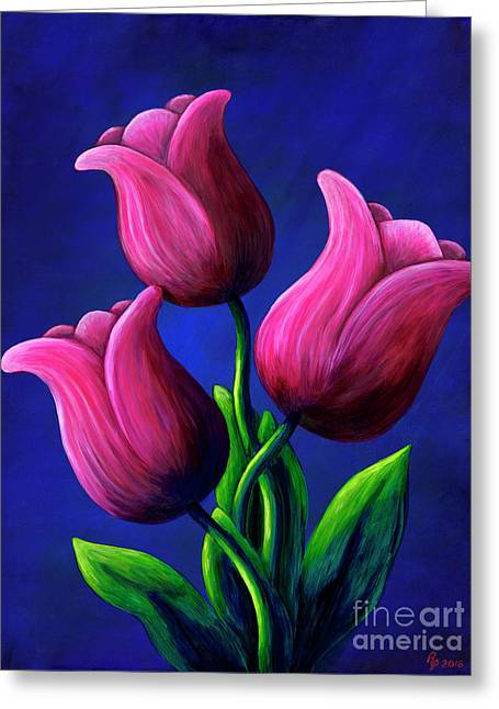 Floating Tulips Greeting Card