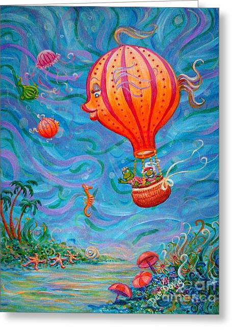 Floating Under The Sea Greeting Card