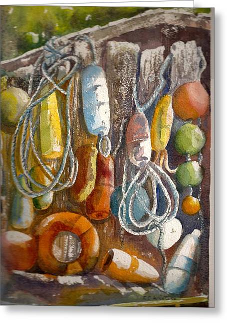 Floats Greeting Card by KC Winters