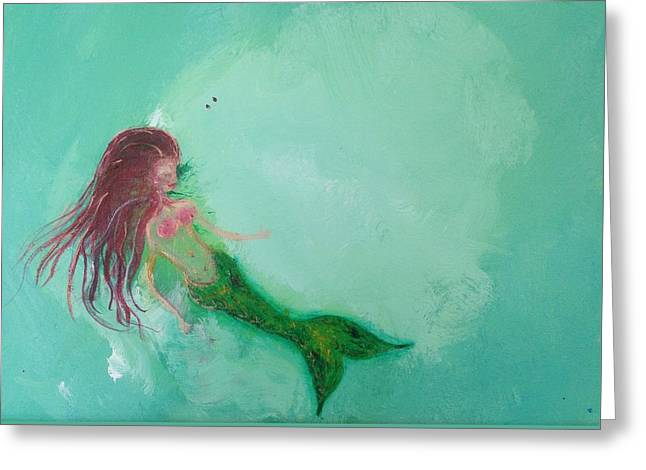 Floaty Mermaid Greeting Card by Roxy Rich