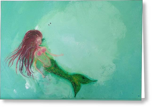 Floaty Mermaid Greeting Card