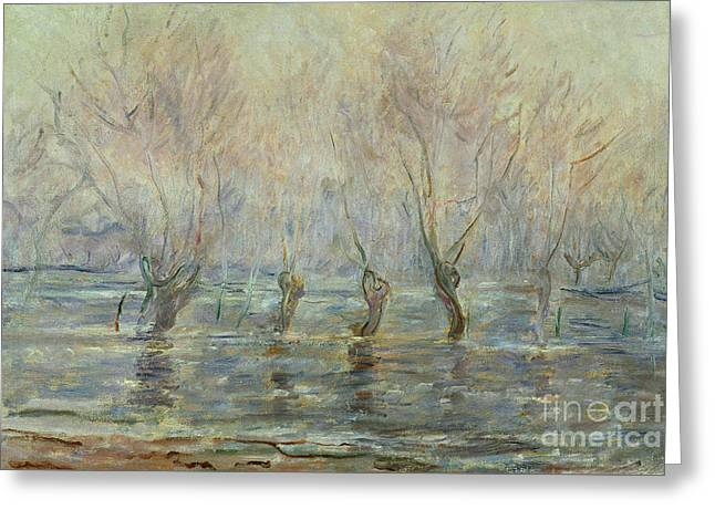 Flood In Giverny Greeting Card