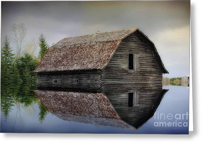 Flooded Barn Greeting Card
