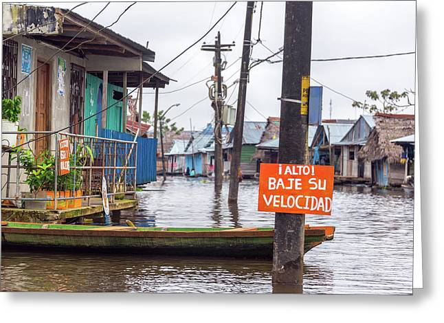 Flooded Iquitos, Peru Greeting Card by Jess Kraft