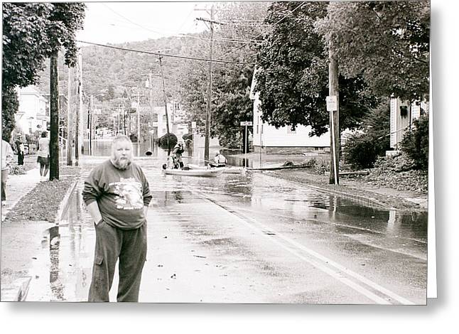 Flooded Streets Of Despair Greeting Card by Jeff Porter