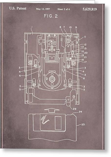 Floppy Disk Assembly Patent Drawing 1a Greeting Card