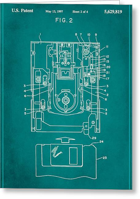 Floppy Disk Assembly Patent Drawing 1c Greeting Card
