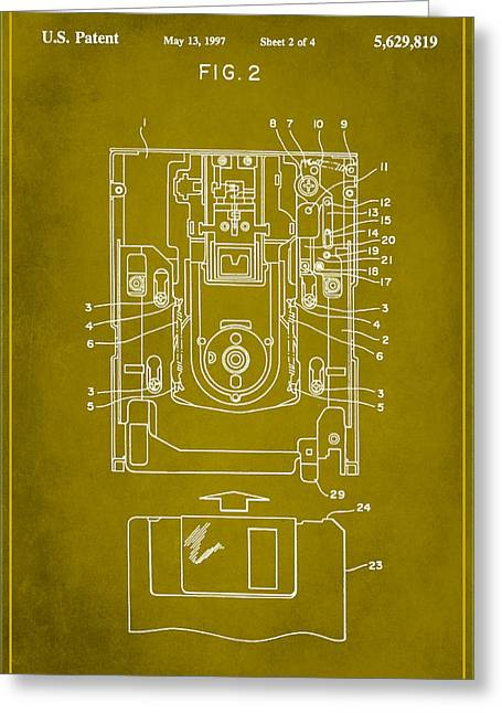 Floppy Disk Assembly Patent Drawing 1d Greeting Card