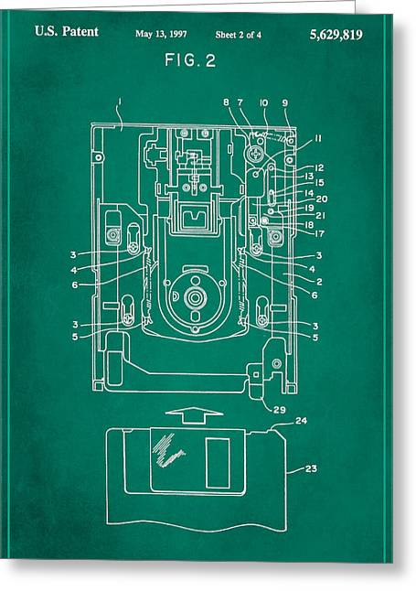 Floppy Disk Assembly Patent Drawing 1f Greeting Card