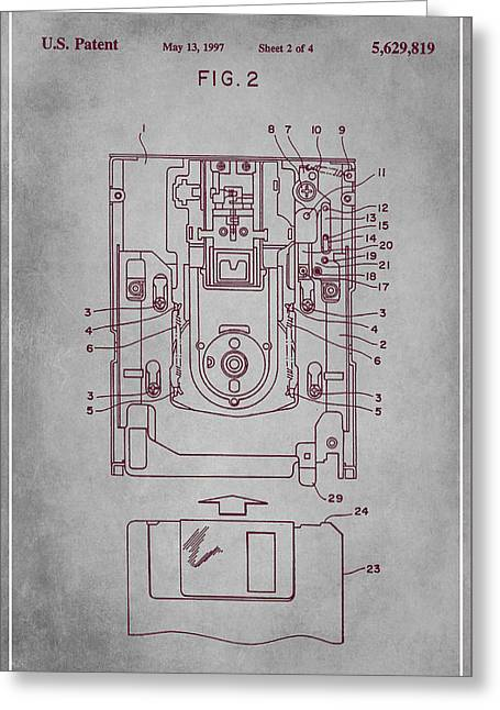 Floppy Disk Assembly Patent Drawing  Greeting Card