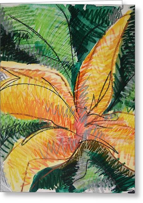 Flora Exotica 2 Greeting Card by Dodd Holsapple