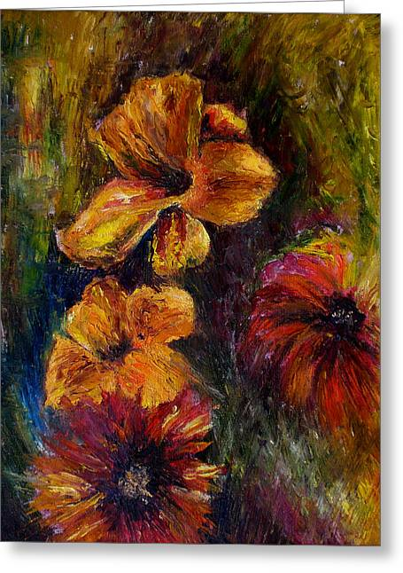 Flora Greeting Card by Lou Ewers