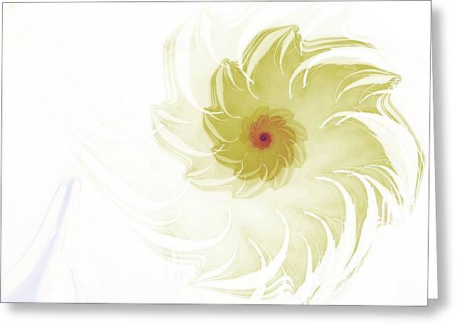 Greeting Card featuring the digital art Flora by Richard Ortolano