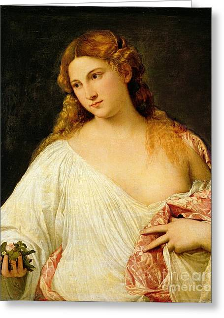 Flora Greeting Card by Titian