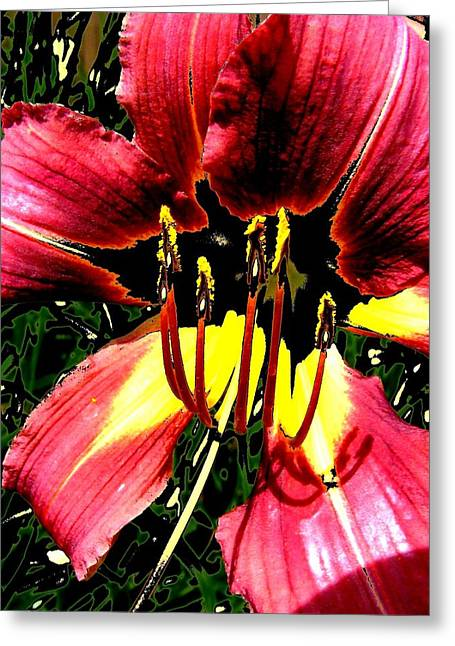 Floral 2 Greeting Card by Chuck Landskroner