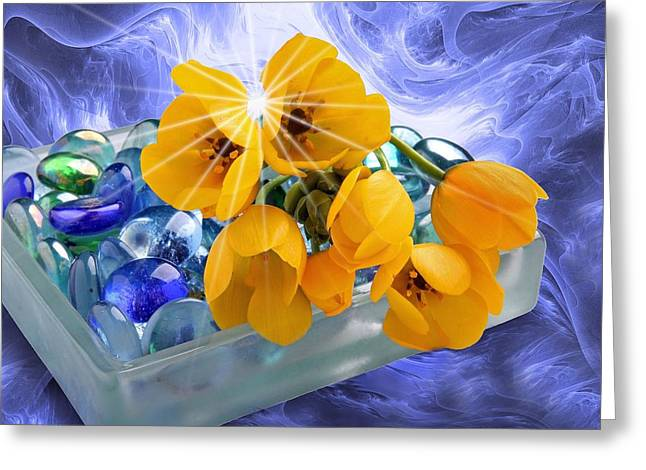 Floral 6 Greeting Card by Manfred Lutzius