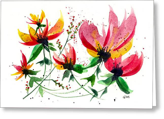 Floral 6 Greeting Card