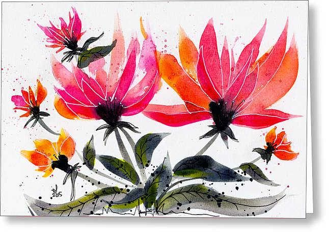 Floral 8 Greeting Card