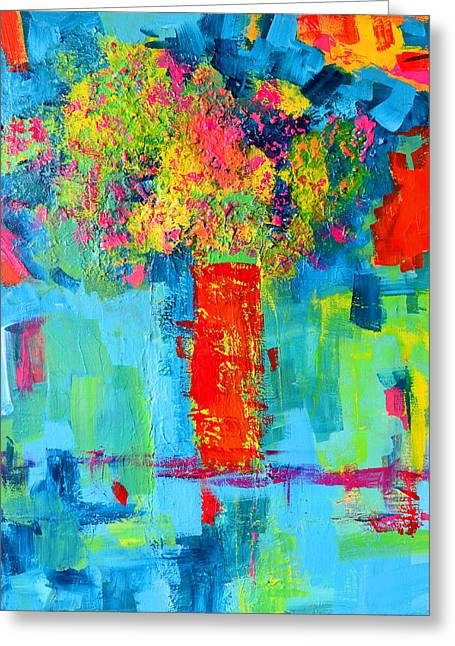 Floral Abstract Expressions Greeting Card by Patricia Awapara