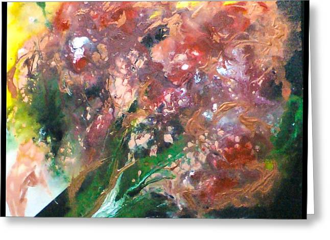 Floral Abstract Greeting Card by Jan Wendt