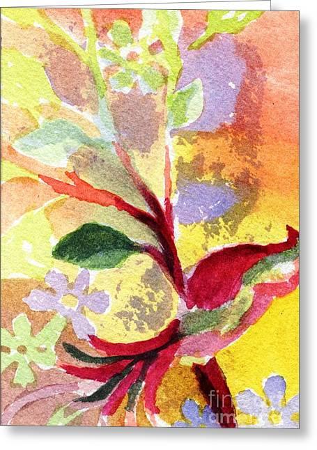 Floral Abstract Greeting Card by Joe Hagarty