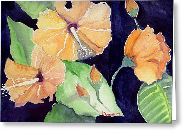 Floral Affair Greeting Card by Janet Doggett