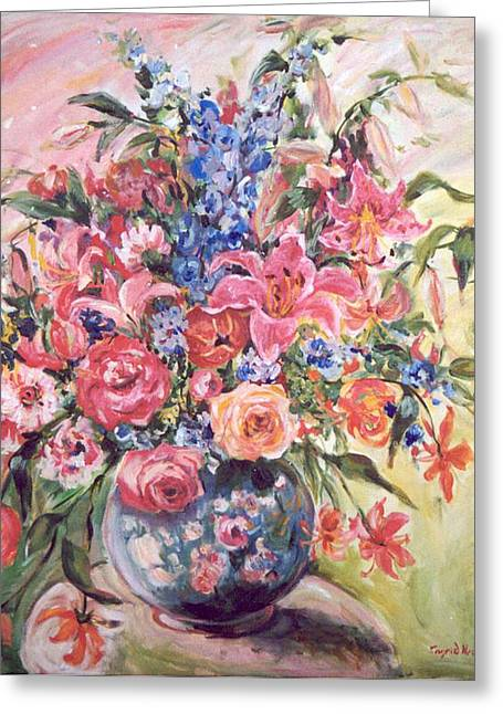 Floral Arrangement No. 2 Greeting Card by Alexandra Maria Ethlyn Cheshire