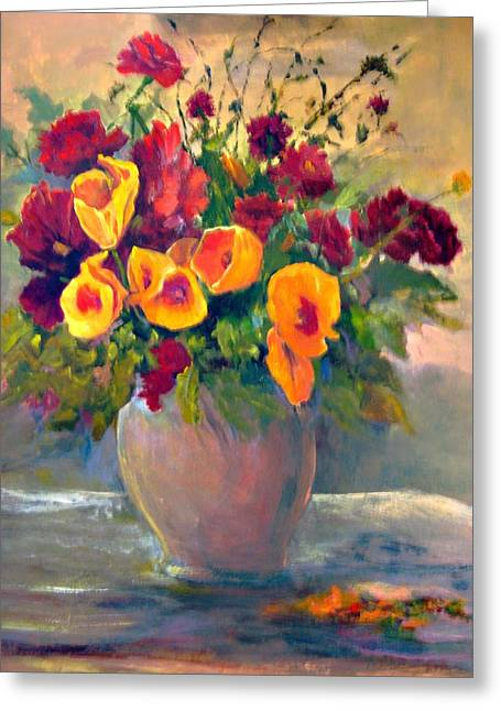Floral Bouquet Greeting Card by Jimmie Trotter