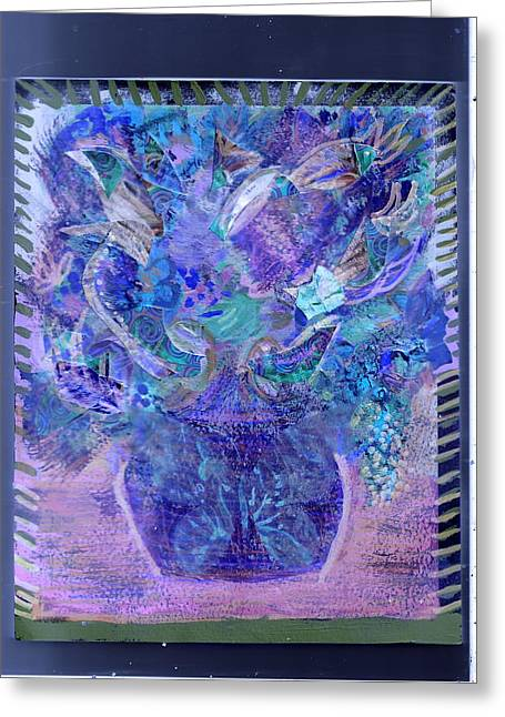 Floral Bouquet Purple  Greeting Card by Anne-Elizabeth Whiteway