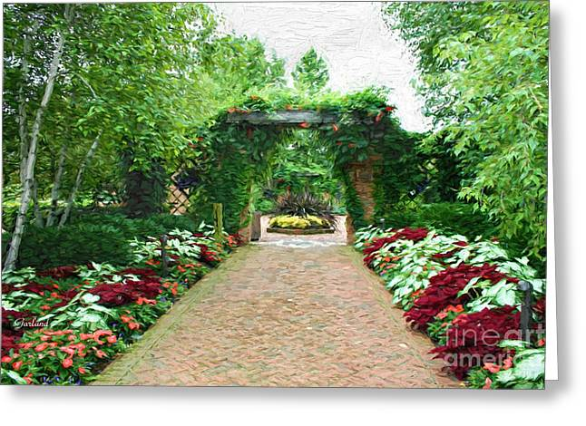 Floral Brick Road Greeting Card