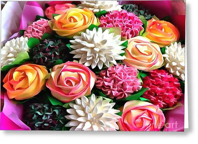 Floral Buffet Greeting Card by Catherine Lott