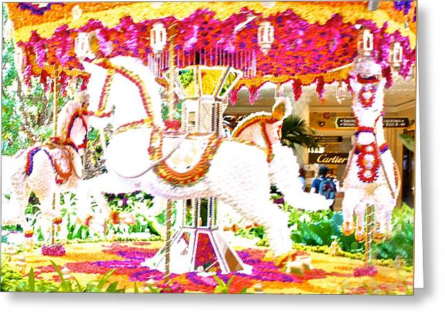 Floral Carousel Display Greeting Card by Art Spectrum