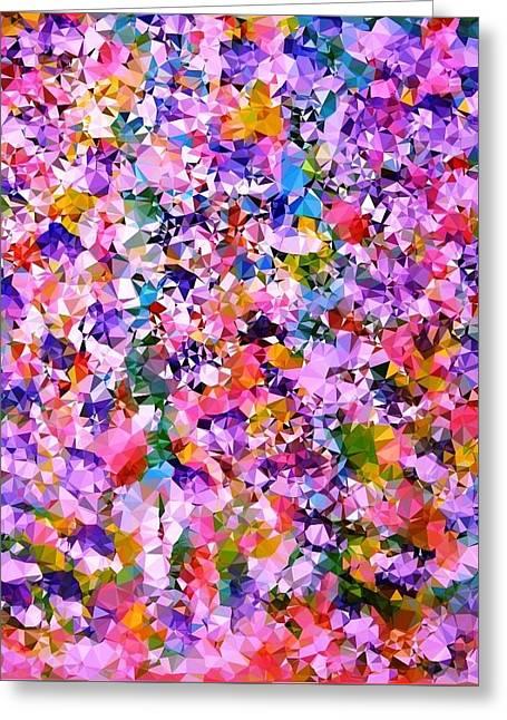 Floral Color Burst Greeting Card