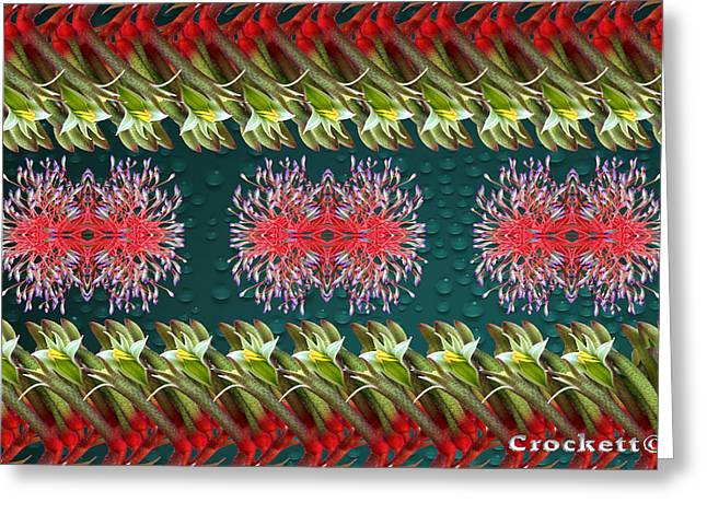 Floral Contemporary Art Greeting Card by Gary Crockett