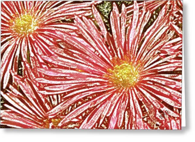 Floral Design No 1 Greeting Card by Ben and Raisa Gertsberg