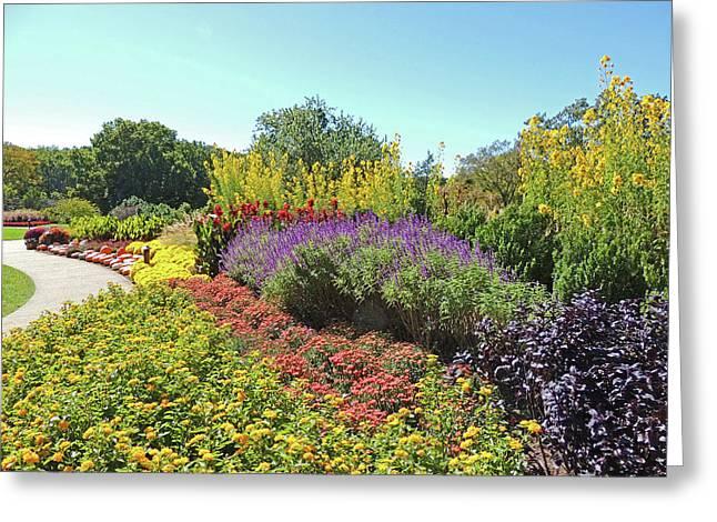 Floral Display At Cheekwood Gardens Greeting Card