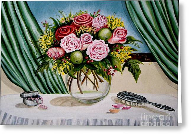 Floral Essence Greeting Card by Elizabeth Robinette Tyndall