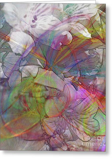 Floral Fantasy Greeting Card by John Robert Beck