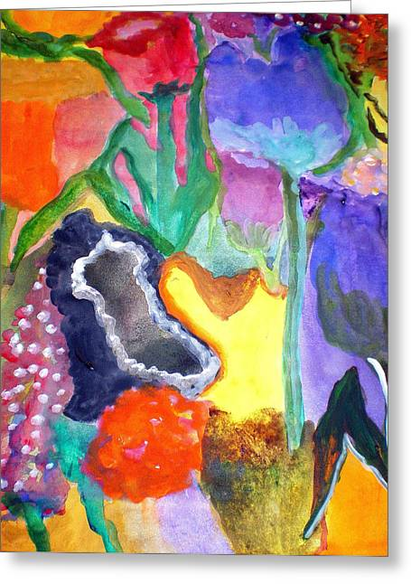 Floral Fantasy2 Greeting Card by Patricia Fragola