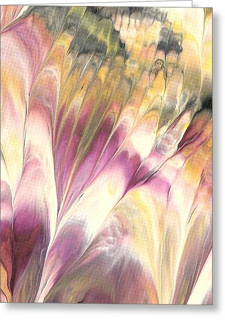 Floral Fusion Greeting Card by Linda Stevenson