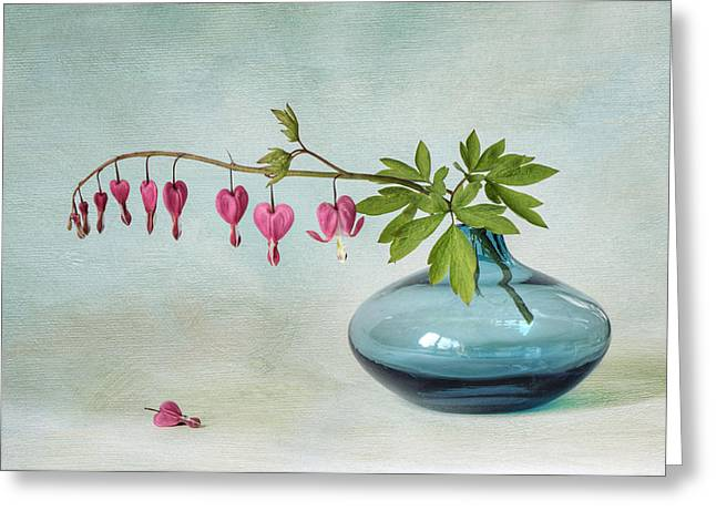Close Up Floral Greeting Cards - Floral Hearts Greeting Card by Jacky Parker