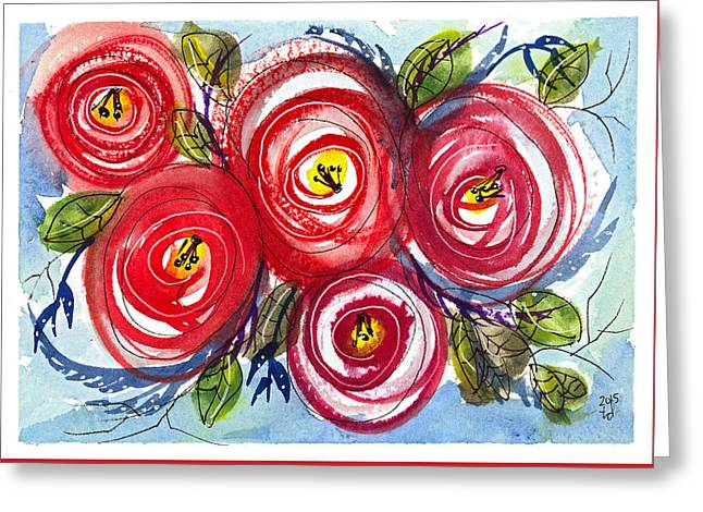Floral I Greeting Card