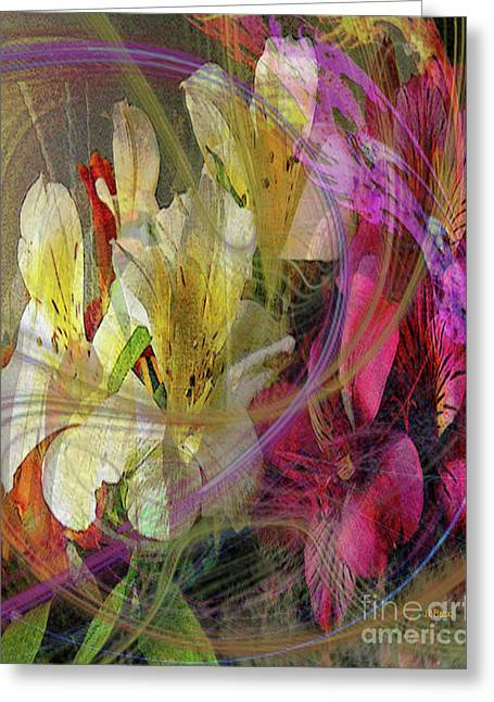 Floral Inspiration Greeting Card by John Robert Beck